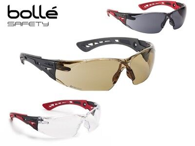 BOLLE RUSH+ ANTI FOG & SCRATCH Safety / Cycling Glasses Clear, Smoke or Yellow