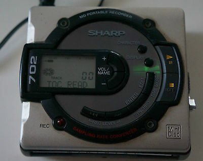 Sharp Md-Ms702H(Gy) Portable Mini Disc Md Recorder / Player