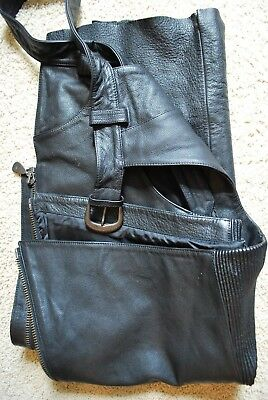 Pair Mens Harley Davidson Leather Chaps