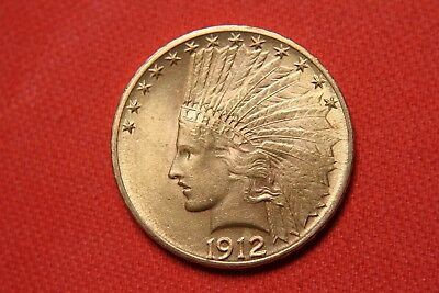 1912 U.S. Indian Head Gold Eagle $10 coin
