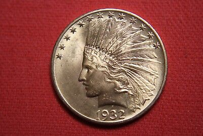 1932 U.S. Indian Head Gold Eagle $10 coin