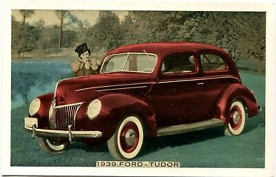 Original 1939 Ford Motor Co. Tudor Automobile Car Dealer Postcard VG Condition!