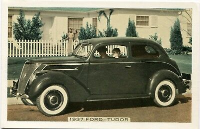 Original 1937 Ford Motor Co. Tudor Automobile Car Dealer Postcard VG Condition!