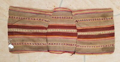 Peru Peruvian Southern Highlands Cuzco Wool Camelid Saddle Bag 19-20th century