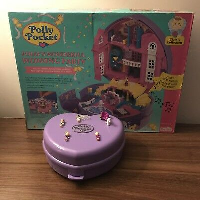 Vintage Polly Pocket 1994 Pollys Wonderfull Wedding Party boxed (music working)