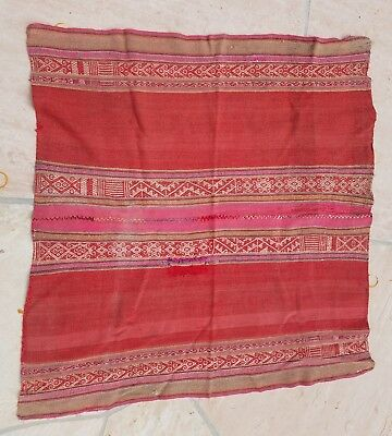 Antique Peruvian Quechua Andean highlands woolen altar cloth 40 x 42 inches GC