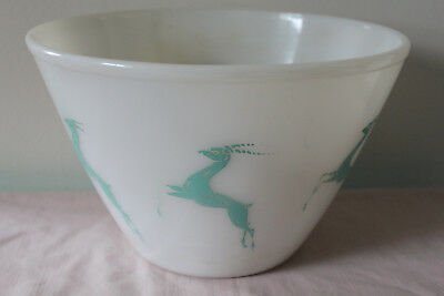 Vintage Turquoise Fire King Gazelle Mixing Nesting Bowl Splash Proof Oven Ware