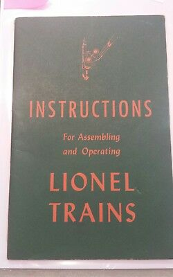 1946 Instructions For Assembling And Operating lionel Trains