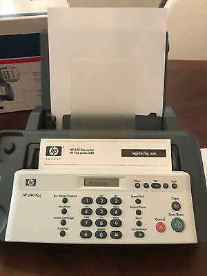 HP 640  plain paper Fax . IN BOX w/ manuals cables .Works! Gentle home use