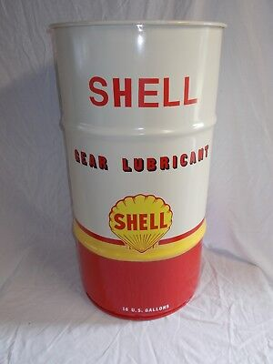 Vintage-Style SHELL 16-Gal Oil Drum-Barrel~Use as Trash Can~Accent Garage Decor