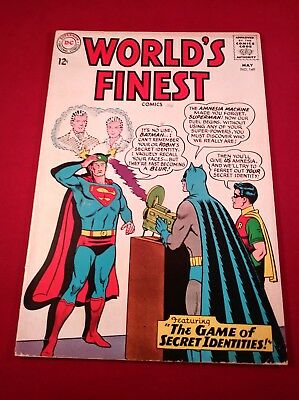 Worlds Finest #149 5.5 The Game Of Secret Identities! 1965 Glossy Unpressed