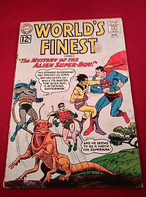 WORLD'S FINEST #124 2.5 OW/WHITE PAGES SILVER AGE DC COMICS 1962 complete
