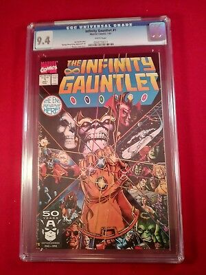 '91 Infinity Gauntlet # 1 Graded 9.4 By Cgc The Movie Was Based In Part On This