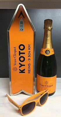 Veuve Clicquot Champagne Destination Arrow Tin Box KYOTO Journey Street Sign