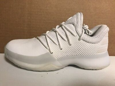 59f4b3a00f4 Adidas Harden Vol 1 Big Kids Basketball Athletic Sneakers BW1110 White Size  4