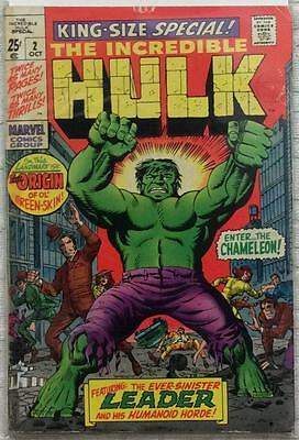 Incredible Hulk King Size Special #2 (1969 Marvel) Silver Age VG condition.