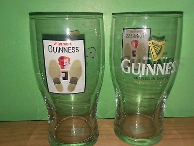 GUINNESS HARP BEER GLASS - EXCELLENT CONDITION set of 2