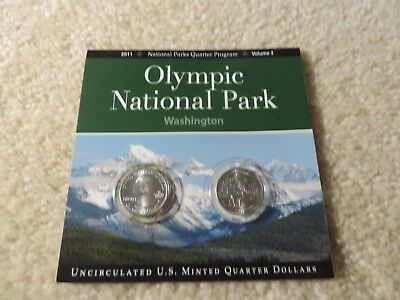 Olympic National Park Washington 2011 N.P. Quarters Program Volume 3
