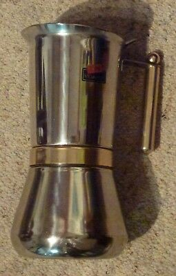 VEV VIGANO Italy stove top.12 cup Espresso coffee pot.stainless steel percolator