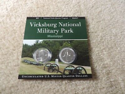 Vicksburg National Military Park Mississippi 2011 N.P. Quarters Program Volume 4
