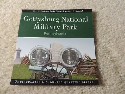 Gettysburg National Military Park Penn. 2011 N.P. Quarters Program Volume 1
