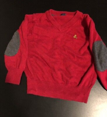 Baby Gap Boys Toddler V Neck Sweater Size 18-24 Months Red