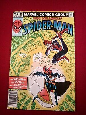 Amazing Spiderman Annual #14, 9.2 F. Miller cover and art Dr. Strange WHITE PGS!