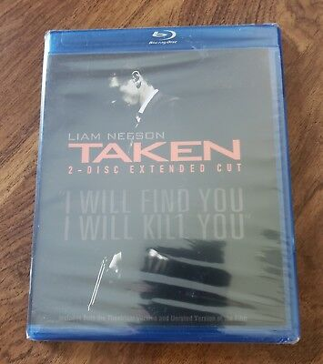 Taken (Blu-ray Disc, 2009, 2-Disc Set, Extended Cut) Brand New (Liam Neeson)