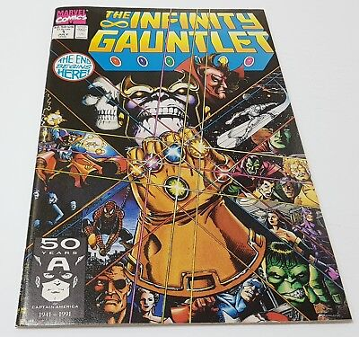 KEY ISSUE* THE INFINITY GAUNTLET #1 1991 Thanos Cover