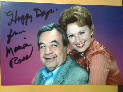 Marion Ross Authentic Hand Signed 4X6 Photo with Tom Bosley - HAPPY DAYS