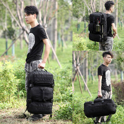 50L Big Capacity Nylon Backpack Men Outdoor MOLLE Travel Duffle Luggage Bag New