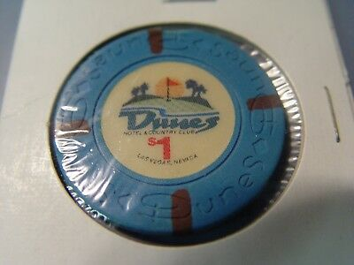 Vintage Dunes $1 Roulette Chip In Excellent Condition