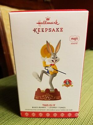 2017 Hallmark THIS IS IT Looney Tunes BUGS BUNNY Cartoon Magic Sound Ornament