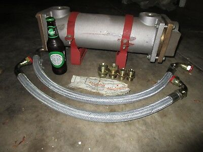 Heat Exchanger Large , Ex Defence New Never Used, With Hoses And Fittings.