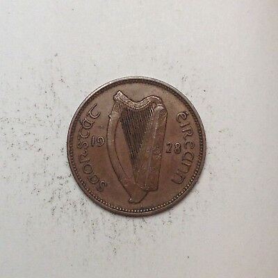 1928 Farthing Ireland Republic First Issue! Very Nice!! Must Take A Look! [Fc70]