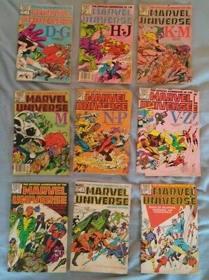 1980s bronze coppper age Marvel Universe comic lot