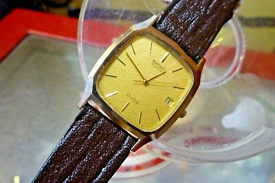 "SEIKO  DOLCE Mens 29mm 7 jewel 9522-5011  Vintage 1983  Quartz 7 "" wrist"