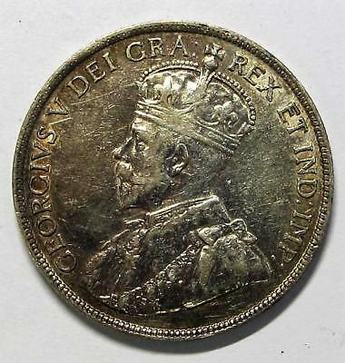 1916 Canada * 50¢ Sterling Silver Coin * George V, King * Mintage: 459,07