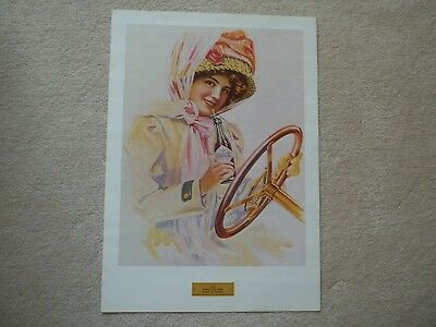 """Vintage Coca Cola Poster   """"when Dusters Were In Vogue (1909)"""""""