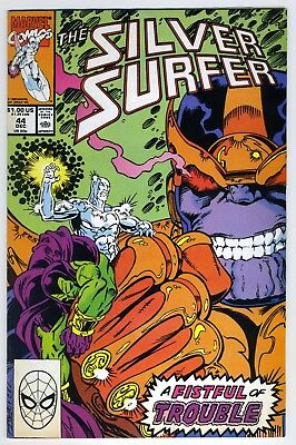 Silver Surfer 44 (1990) - 1st appearance of the Infinity Gauntlet - See Scans!