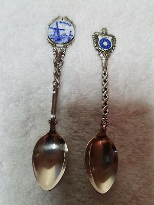 Vintage EPNS Silver plated MIni-Collectors Spoons (Two) Holland & Taiwan