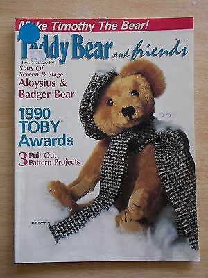 Teddy Bear & Friends~Feb 1991~Knitted Outfit~Timothy~Pinata