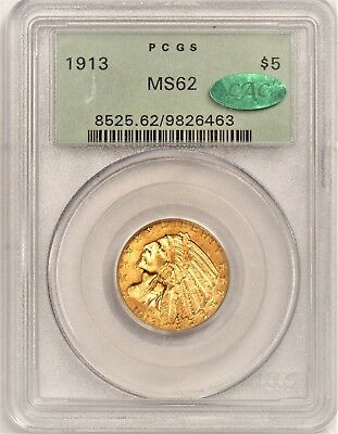 PCGS 1913 $5 MS62 CAC OGH Another exquisite original toned Indian  10+++ appeal