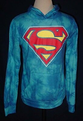 Superman Lightweight Tie Dyed Pullover Hoodie Youth Size Medium 7/9