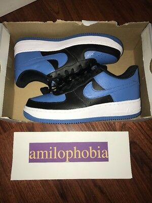 New Youth Nike Air Force 1 ( GS ) Size 7Y Black Star Blue Basketball Shoes
