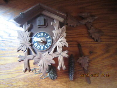 Vintage German Cuckoo Clock For parts or Repair Not sure if it works or not