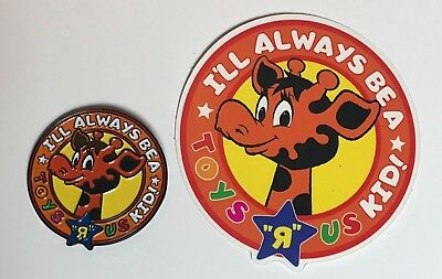 "Toys R Us Enamel Pin ""I'll Always Be A Toys R Us Kid"" Geoffrey Giraffe Retro"