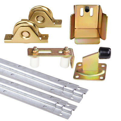 Giantz Sliding Gate Hardware Accessories Kit Track Wheels Roller Guide Opener