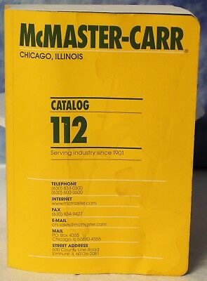 McMaster Carr Catalog 112 Chicago, IL Edition