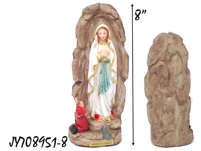 "Religious Virgen De Lourdes 8"" Resin Figurine  !Buy One Now! JY708951-8"
